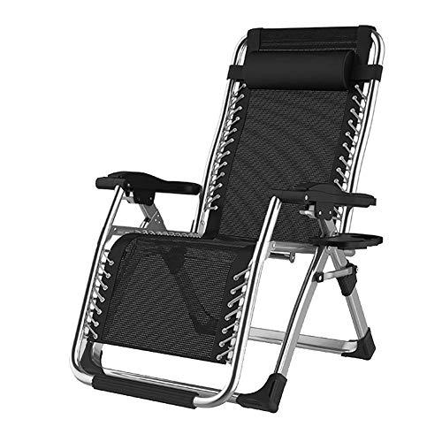 OESFL Garden Zero Gravity Chair Portable Reclining Lawn Chairs Gravity Chair,Garden Lounge Recliner,Portable Folding Sun Lounger,Home folding deck chair, portable folding lunch break single balcony fo