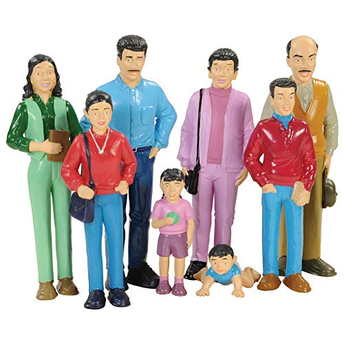 Marvel - 136 Education Pretend Play Hispanic Family, Toy Figures for Kids