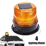 12V Solar Warnleuchte LED Rundumleuchte Magnet Warnlicht Blinkleuchte für Auto PKW LKW Kabellose...