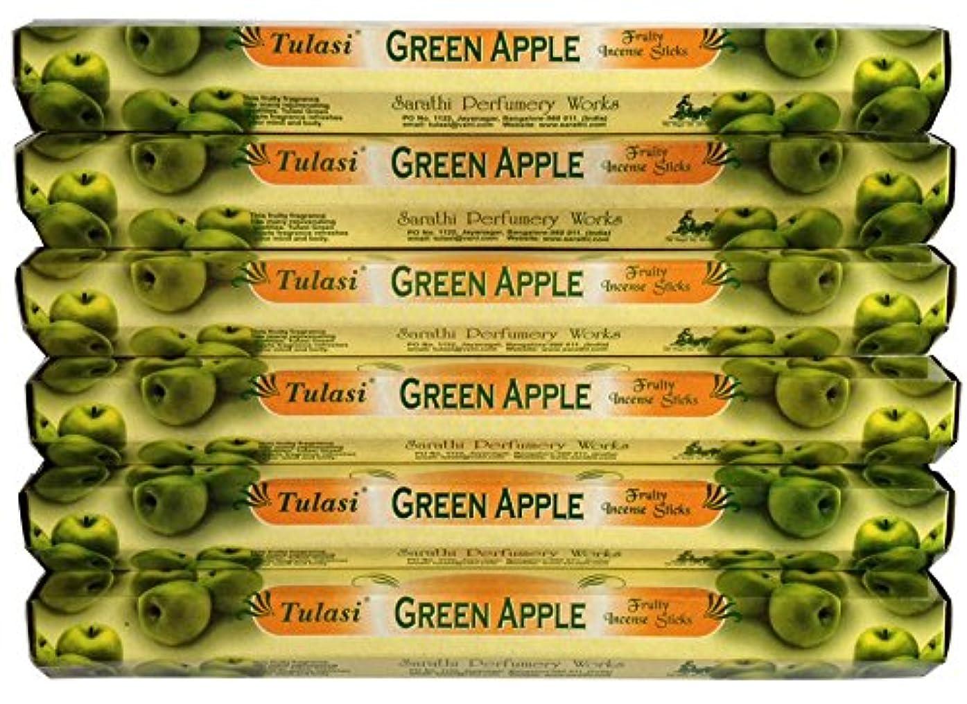 ファセットプロポーショナル大きいトゥラシ グリーンアップル 6個セット