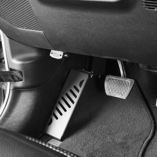 Hooke Road Dead Pedal Left Side Foot Rest Kick Panel Compatible with Jeep Wrangler JL/Gladiator JT 2018 2019 2020 2021