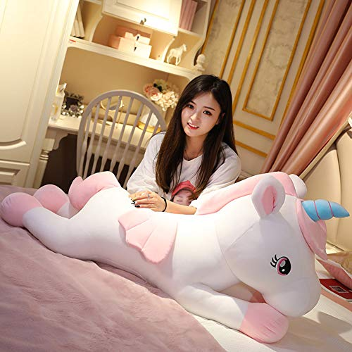 Xiaotian Unicornio de Peluche de Juguete muñeca muñeca de Trapo muñeca Super Chica Linda Cama...
