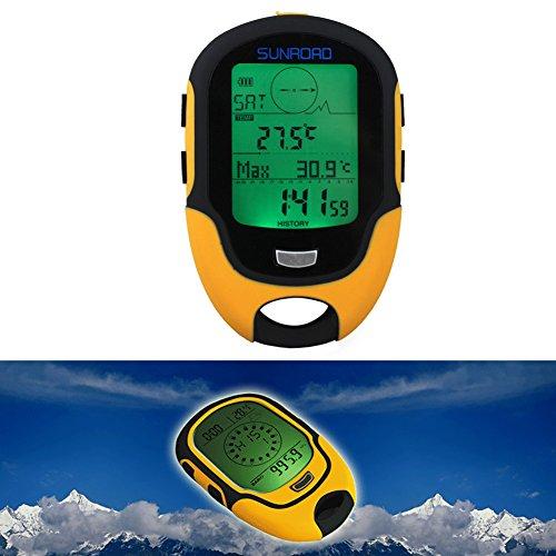 Elektronischer Höhenmesser, Wasserdichter FR500 Multifunktions LCD Digital Höhenmesser Barometer Kompass