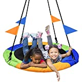 PACEARTH 40 Inch Saucer Tree Swing Flying 660lb Weight...