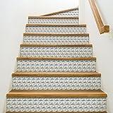Playa Adhesivo para contremarches de escaleras, Vinilo, Gris, 100x 0,1x 19cm