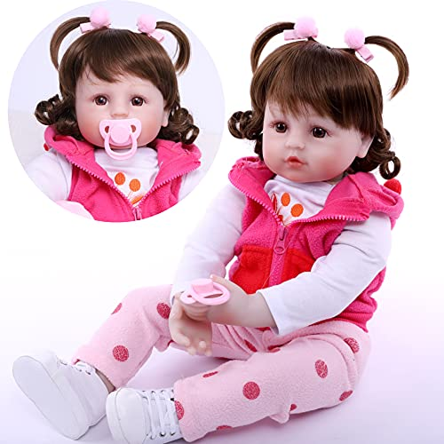ZIYIUI Realistas Bebé Reborn Muñecas Niña Suave Vinilo de Silicona Bebe Reborn18 Pulgadas 48cm Recién Nacido Juguetes para Niños Originales Muñecas Que Parecen Bebés Reales