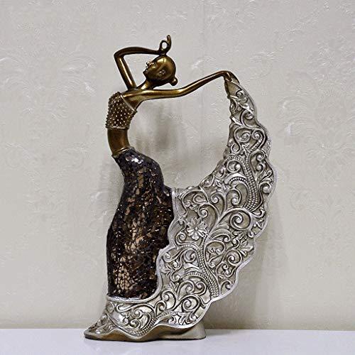 ambachten Decoratie Klassieke Sculptuur Pauw Dans Meisje Ornamenten Thuis Meubels TV Kabinet Decoratie Geschenken