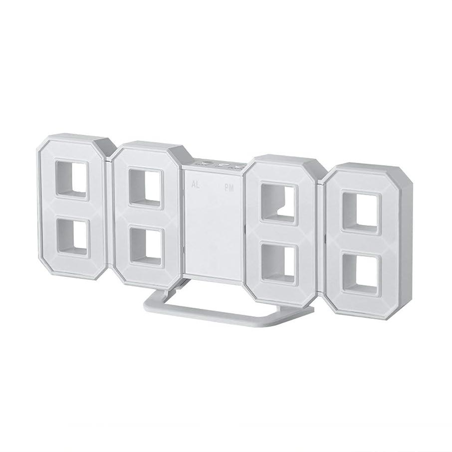わざわざホース今晩Saikogoods 形マルチユース8は デスクトップデジタルテーブルクロック温度計湿度計カレンダー天気予報駅時計を表示するLED 白