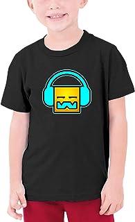 تي شيرت قطني للمراهقين من Geometry Dash قمصان كاجوال