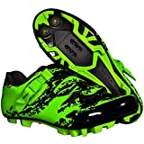 BOODUN Men's Cycling Shoes,mountain Bike Lock Shoes,mtb Road Pro Cycling Shoes,Green-42EU