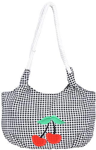 Küstenluder Damen Tasche Kaylil Cherry Pepita Shopper Schwarz
