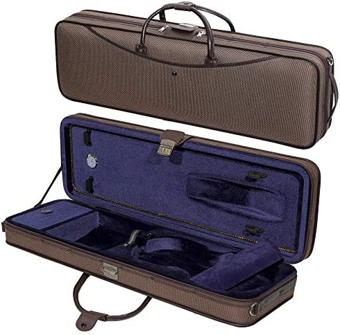 MI VI Luxurious Hard Shell Violin Travel Case 4 4 Full Size With Soft Leather Handles Adjustable product image