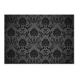 100 Manteles de papel individuales Black Ornament I dv_008I DIN A3I Juego de manteles, cubiertas de sobremesa, manteles de mesa de papel decorativo, modernos, desechables, boda, barroco