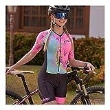 LYYJIAJU Ciclismo Skinsuit Suit Cycling Skinsuit Donne Manica Corta Triathlon Abiti Summer Abbigliamento Set One Piece Bici Dress Tuta (Color : I, Size : M)