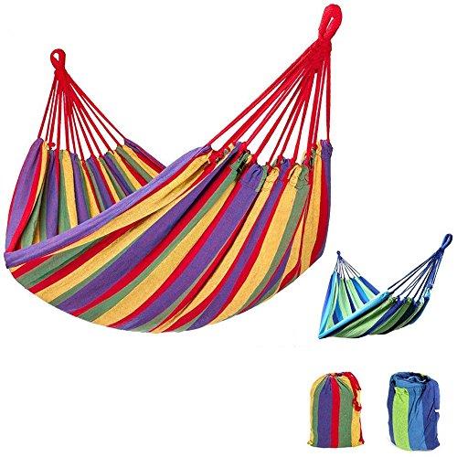 mentalshopwb Amaca da Giardino Piscina Colorata 180x80cm Sacco ARREDO Sedia Campeggio Tenda