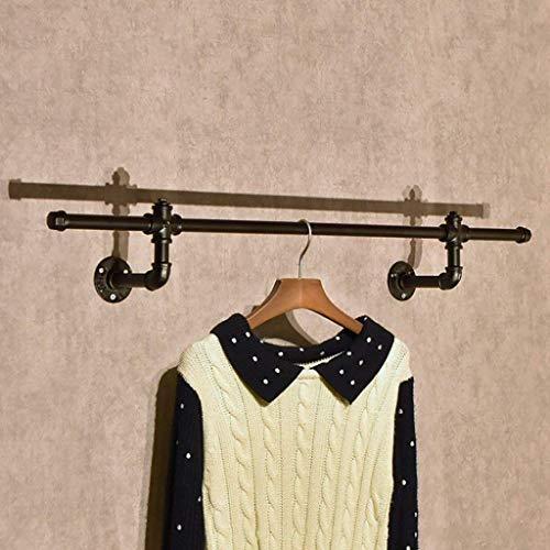 M-J Vintage Kleding Hang Rack op Kleding Stijlvolle Eenvoud Handdoek Rack Vintage IJzeren Wanddoek Hanger Kleding Winkel Kleding Rack Grootte: 15 * 13 * 94Cm, c