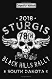 Composition Notebook: Biker Life Usa 2018 Sturgis Black Hill Rally Skull Biker Trike Touring Training Trips City Notebook Journal/Notebook Blank Lined Ruled 6x9 100 Pages