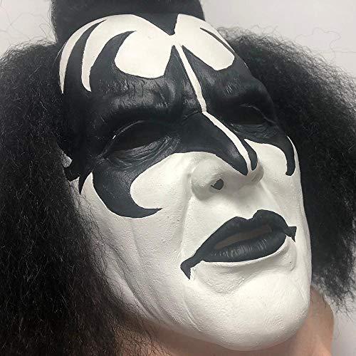 XWYZY Máscara de Halloween El Demonio Disfraz Accesorio de Cosplay Máscaras de Látex Deluxe Halloween Mascarillas de Adultos besosDemonmask
