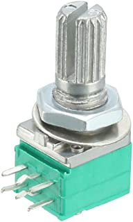uxcell RK097G 10K Ohm Variable Resistors Dual Turn Rotary Carbon Film Taper Potentiometer