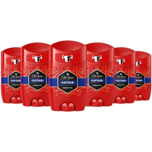 Old Spice Captain Deodorant Lot de 6 bâtons de déodorant 6 x 50 ml