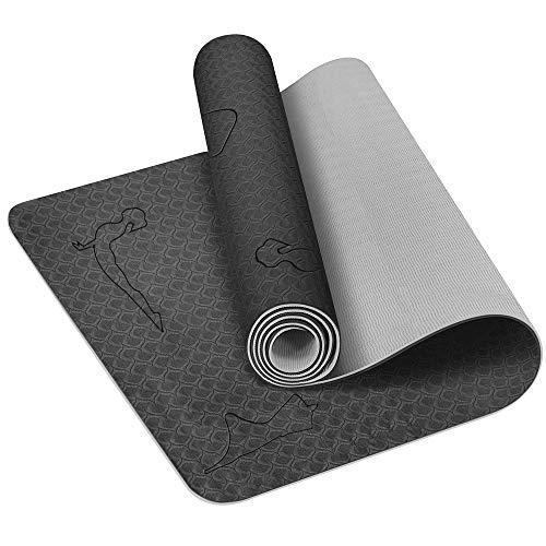 HCFGS Gymnastikmatte, rutschfeste Yogamatte Fitnessmatte übungsmatte Sportmatte Trainingsmatte für Yoga, Fitness Pilates & Gymnastik (183 x 61 x 6 cm)