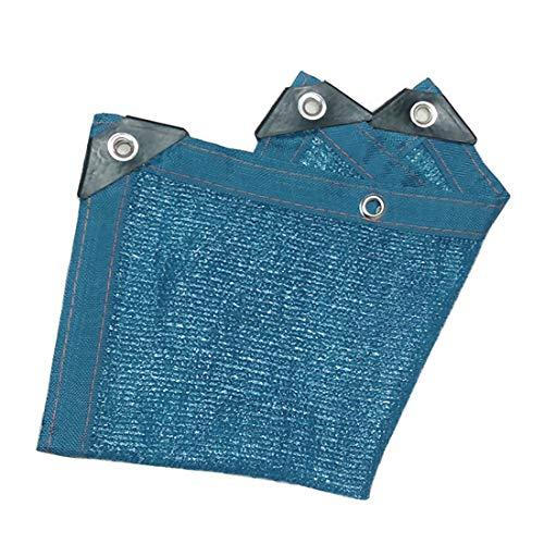 schaduwnet privacy schermbescherming Shading net isolatie netproductie schaduw metaal gat ademend tuin meerdere maten 6m×8m blauw