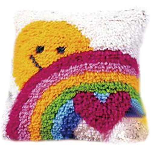 ZWPY Latch Hook Kit, DIY Latch Hook Rug Kits,Alfombra Hacer Manualidades para Niños Adultos,Crochet Bordados Punto De Cruz con Lienzo Impreso Kits