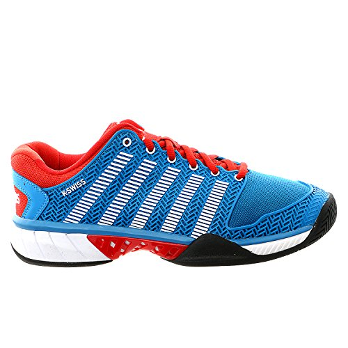 K-Swiss Hypercourt express - Zapatillas Tenis/Padel (Methly blue/Fiery red) - 41 (1/2)