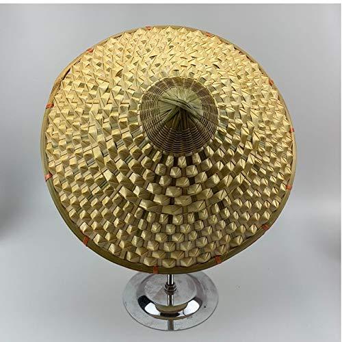 TONGTONG Vietnam Giappone Pescatore Sun Hat Cono di Bambù Tessuto Fatto A Mano Cappello Di Paglia Visiera Giardino Farmer Cap Puntelli Danza Cono Parasole Cappello