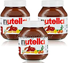 Nutella Ferrero Hazelnut Chocolate Spread 750 g (Pack of 3)