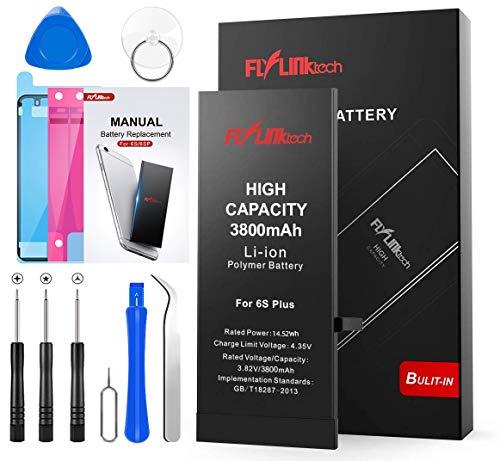 FLYLINKTECH Batteria per iPhone 6S Plus Alta Capacità 3800mAh Batteria Interna di Ricambio in Li-ion, Strumenti di Riparazione Completi con Kit Sostituzione, Cacciavite Strumenti e Adesivo