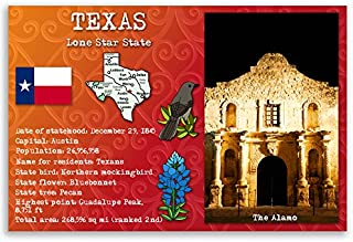 TEXAS STATE FACTS postcard set of 20 identical postcards. Post cards with TX and state symbols. Made in USA.
