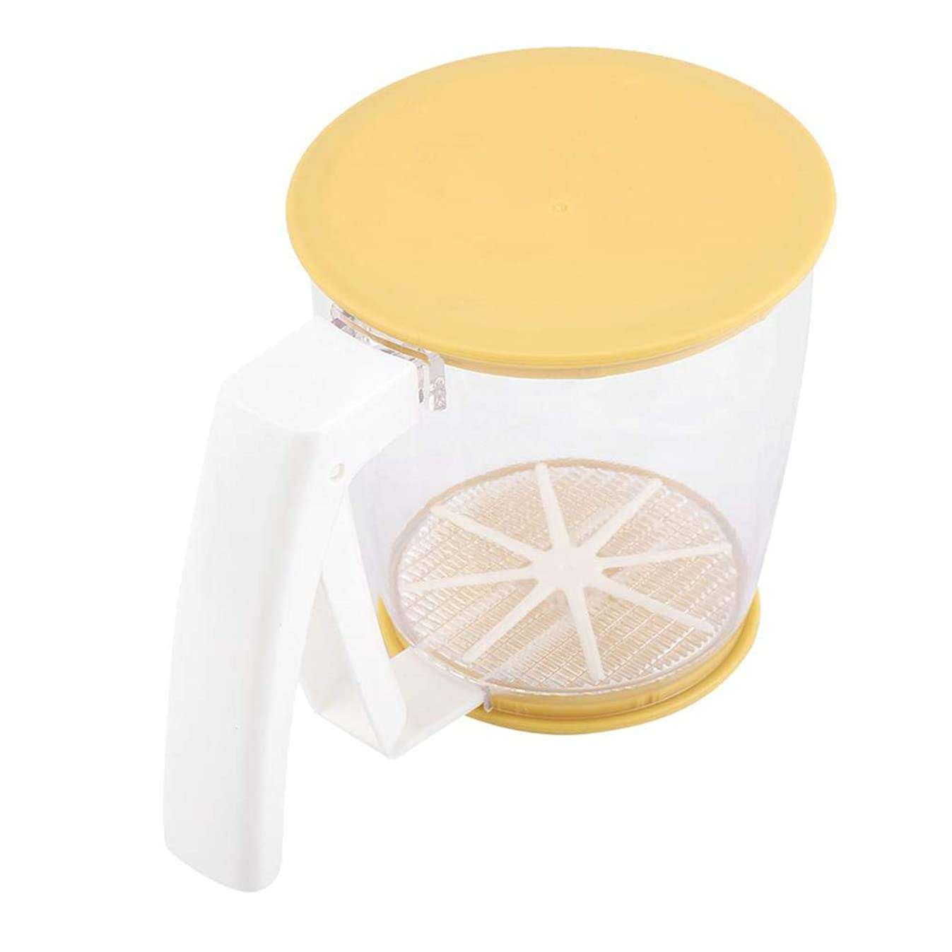 Flour Sifter Hand-Held Cup Flour Sifter Strainer Powder Mesh Sieve Baking Supplies Tools with Lid at The Bottom Sieve Flour