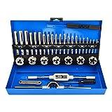 LncBoc Juego de 32 piezas de grifo y troqueles para mejorar el hogar, kit de herramientas para crear y reparar roscas, llave de grifo de acero de aleación para rosca interna y externa