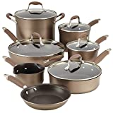 Anolon 84066 Advanced Hard Anodized Nonstick Cookware Pots and Pans Set, 12 Piece, Bronze