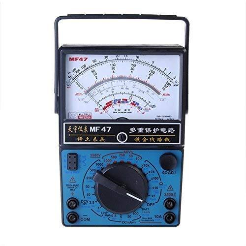 LONGWDS multímetro MF-47 multímetro analógico amperímetro del voltímetro del probador de la batería Ohmímetro