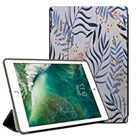 PRINDIY iPad Air 1/iPad Air 保護ケース, 耐衝撃 三つ折りブラケット 指紋防止 落下抵抗 PU + PC 三つ折 スマートカバー iPad Air 1/iPad Air Case-H73