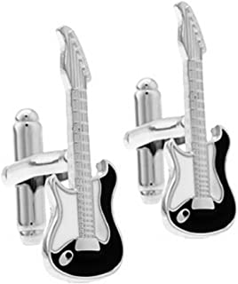 Black Guitar Cufflinks for Men