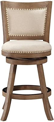 Amazon Com Boraam Melrose Counter Stool 24 Inch 1 Pack Driftwood Wire Brush And Ivory Furniture Decor