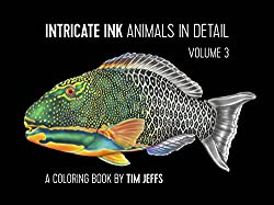 intricate ink animals in detail