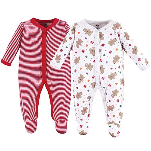 Hudson Baby Unisex Baby Cotton Sleep and Play, Sugar Spice, 0-3 Months