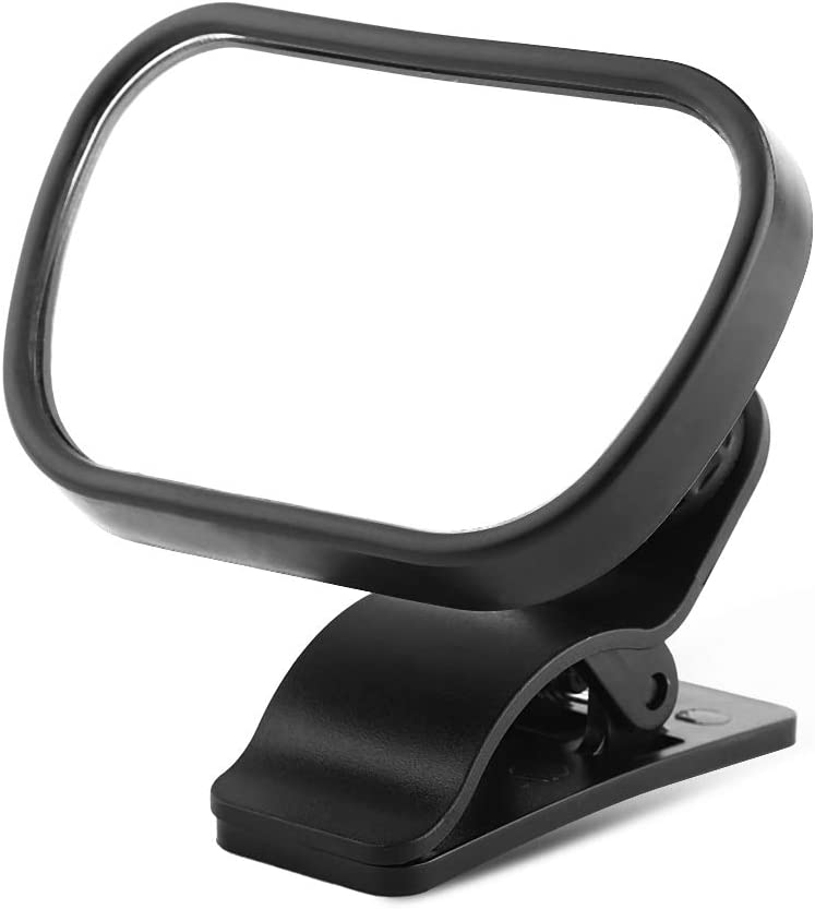 Baby Car Mirror,1Pc Adjustable Car Baby Child Back Seat Rear View Safety Mirror for Rear-Facing Infants With Suction Cup Clip Black