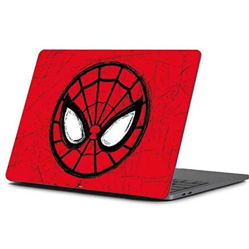 Skinit Decal Laptop Skin Compatible with MacBook Pro 13-inch (2016-17) - Officially Licensed Marvel/Disney Spider-Man Face Design