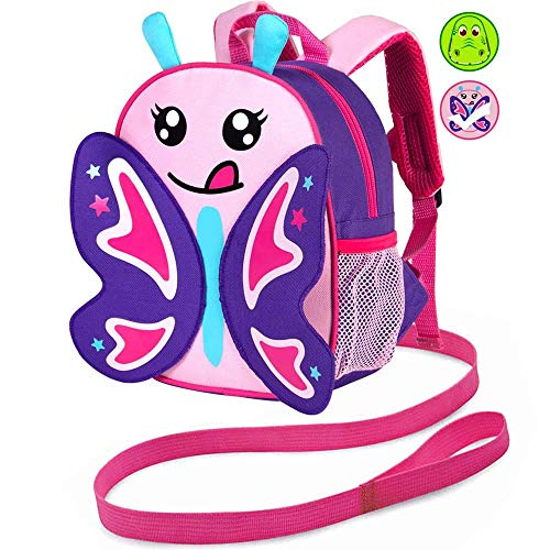 Leash Backpack, 9.5' Toddler Unicorn Bag - Harness Safety with Removable Tether