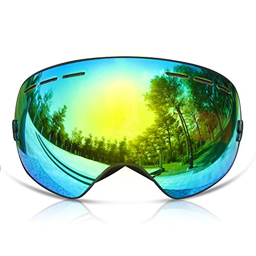 GANZTON Skibrille Snowboard Brille Doppel-Objektiv UV-Schutz Anti-Fog...