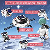Sillbird 6 in 1 STEM Solar Robot Toys Kit for Kids, Educational Space Exploration Fleet Building Learning Science Experiment Toys Set for Boys and Girls Aged 8-14 Years