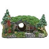 WEFH Decoración para acuario, refugio de peces, resina, manualidades, decoración de pecera, verde, 17 x 11,5 x 10 cm