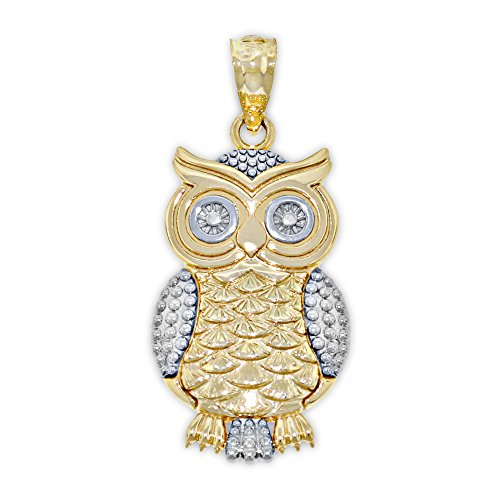 Gold Owl Charm