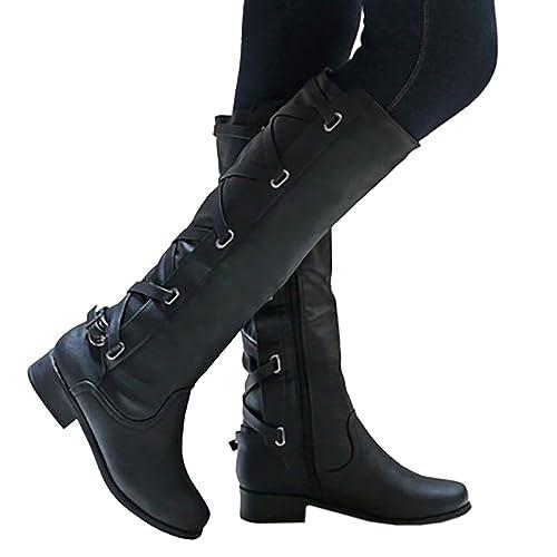 5eb8061f215 Tall Black Leather Boots: Amazon.com