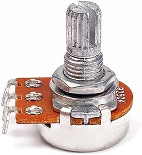 HEALLILY 10pcs A250K guitarra el/éctrica bajo volumen potenci/ómetros